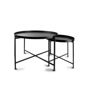 Side table black Patio - set/2