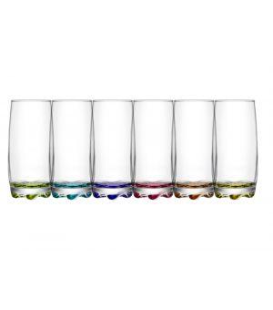Glass 37cl 6 pieces Adora Coral