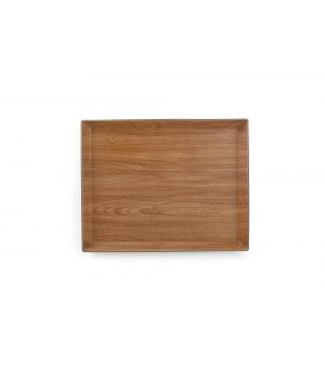 Plateau 38x30xH2,5cm brun Buffet