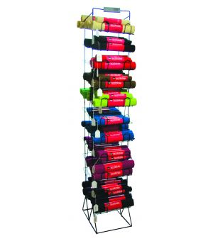 Placemat metal stand 11 shelves H200cm