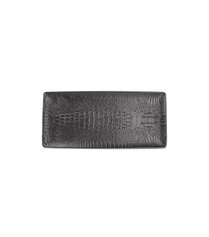 Servierschale 34,5x15,5 27cm black Croco