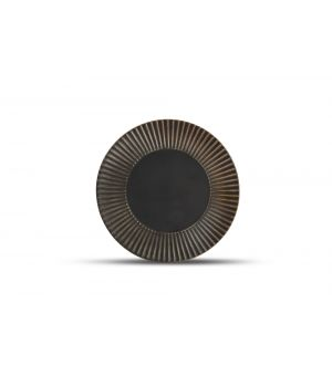 Plate 21cm striped silver Brass