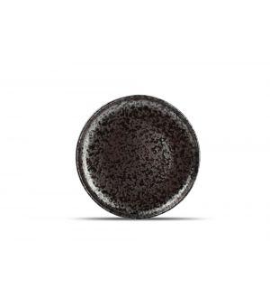 Teller flach 21cm black Oxido