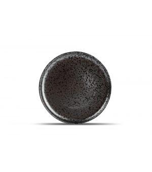 Teller flach 28,5cm black Oxido