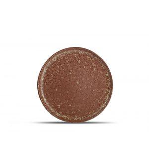 Teller flach 28,5cm rusty Oxido