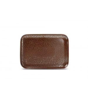 Teller flach 28x20cm rusty Oxido