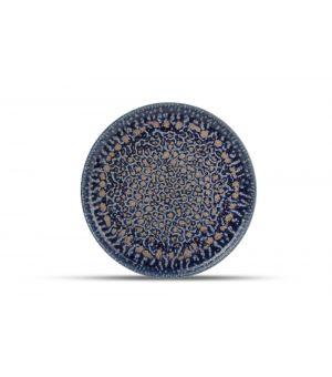 Teller flach 28,5cm cobalt Oxido