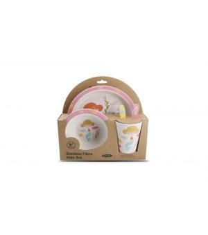 Children's dinner set 5 pieces bamboo Mermaid