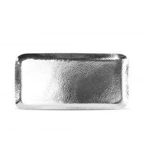 Serving dish 44x21cm metal silver Brass