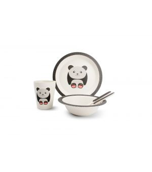 Children's dinner set 5 pieces bamboo Kids Panda