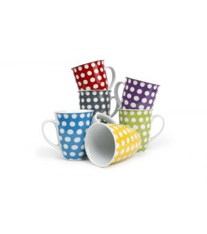 Mug 32cl 6 colours assorti Dots