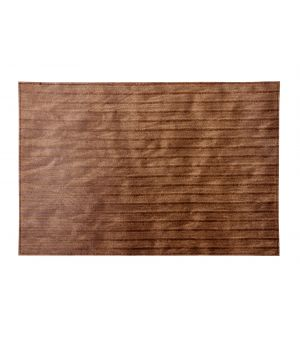 Placemat 30x45cm stripes matt brown