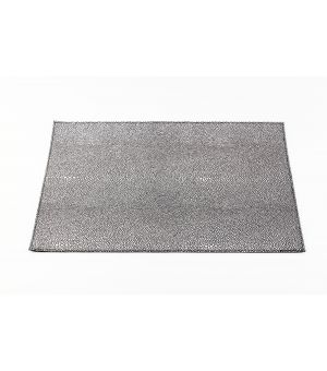 Placemat 30x45cm structure silver on black