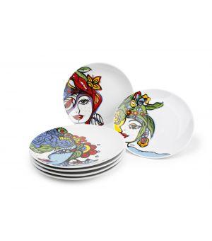 Assiette plate 20,5cm Josien Broeren - set/6