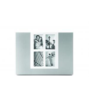 Photo frame 27xH20cm 4 photos silver/white
