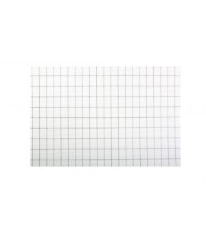 Placemat 30x45cm chequered white/silver TableTop
