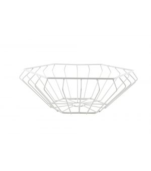 Wire basket 28,7xH10,2xm white Wire