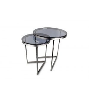 Side table black/smoked Rama - set/2