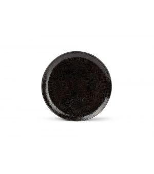 Assiette plate 26,5cm noir Mielo