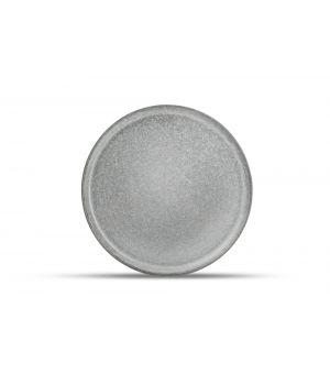 Assiette plate 25cm gris Lava