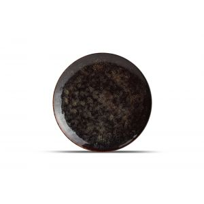 Plate 26cm black Hazy